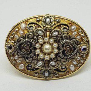 Vintage Michal Golan Victorian Style Brooch